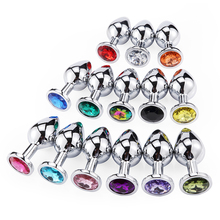 Buy Smooth Touch Aluminum Alloy Metal Butt Plug Crystal Jewelry Small Medium Vibrator Anal Plug Private Goods Men