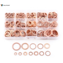 280pcs Professional Assorted Copper Washer Gasket Set Flat Ring Seal Assortment Kit M5-M20 with Box For Hardware Accessories(China)