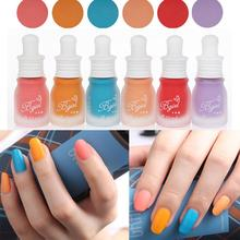Nail Polish10ML Fashion New Fragrance Frosted Matte Bottle Candy 30 Colors Printing Stamp Dedicated Authentic Women Nail Art