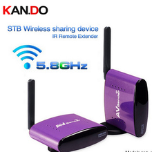 550 5.8GHz 300m STB Wireless Sharing Device AV Transmitter & Receiver Sender IR reverse control Audio video adapter