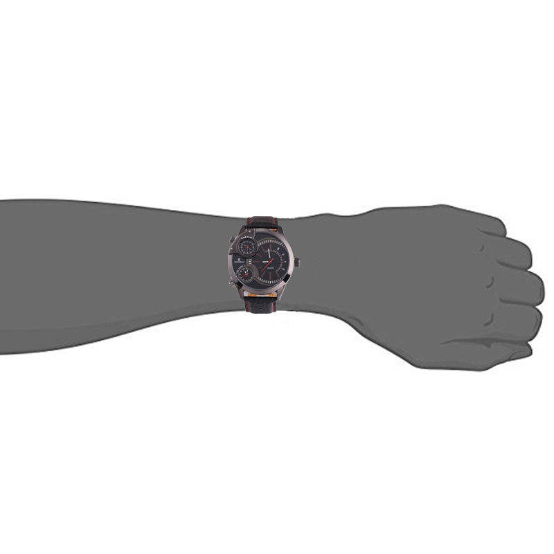 top luxury brand shiweibao three time zones watches for men analog quartz men watch black strap big case wristwatches clock man free shipping wholesale (1)