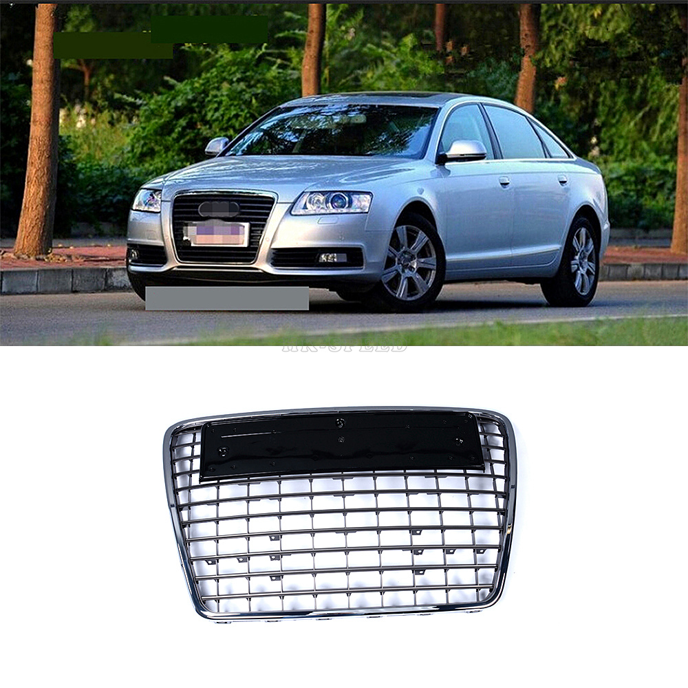A6 ABS Mesh Chrome front bumper grille for Audi A6 S6 sline 2009-2011<br><br>Aliexpress