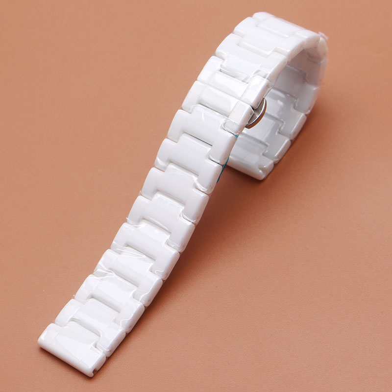 Pure Ceramic Polished Watchband White High Quality Watches accessories fit Brand Luxury Straight end watch strap 14mm 16mm 18mm<br><br>Aliexpress