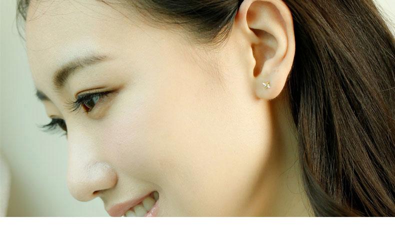 HTB1miJCRpXXXXbwXpXXq6xXFXXXM - SILVER AGELESS 9K Yellow Gold Rhombus Stud Earrings for Women Fine Jewelry 2017 New Arrival