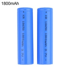 2 pieces Battery 18650 3.7V Blue Rechargeable battery 1800 mAh high drain Power battery 18650 with standard battery packing