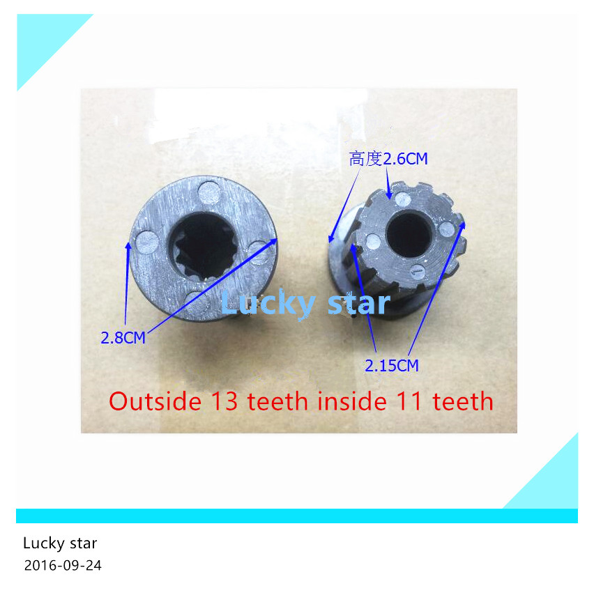Original washing machine parts Outside 13 teeth inside 11 tooth wheel core(China)