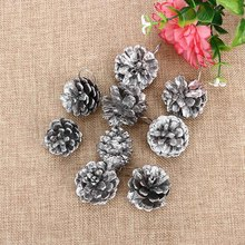 9PCS Christmas Gold Pine Cones Baubles Xmas Tree Decoration Ornaments Gift Decor Party Supplies