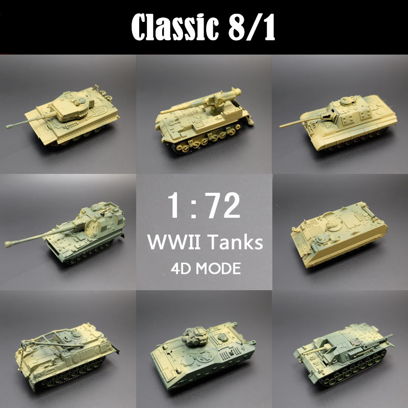 4D assembled tanks 1:72 plastic 3D military models 1/8pcs soldiers toys adult children gifts environmental protection Weapon(China (Mainland))
