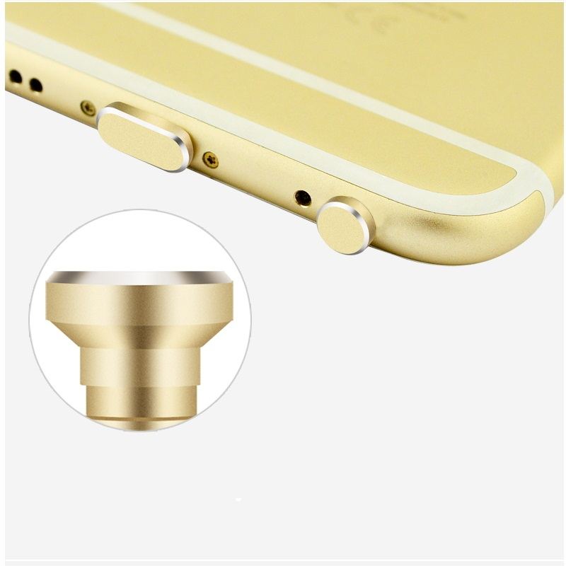 Aluminio antipolvo tapón tapas set para Huawei móvil para USB y auriculares