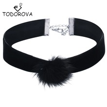 Todorova Chunky Steampunk Lace Choker Vintage Velvet Necklace Vampire Sexy Jewelry Accessories for Women Christmas Gifts(China)