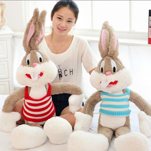 Hot Sale39.37in/1M Super Kawaii Cute Lovely Bunny Rabbit Plush Toys Bugs Bunny Stuffed Toys Baby Toy Birthday Gift Childs Gift