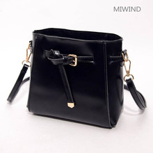 2017 wholesale new tassel shoulder bag female Korean casual handbag fashion small PU square black bag 0608(China)