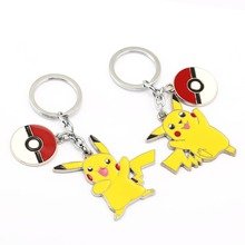 10/pcs Poke Keychain Ball Pikachu Key Rings Holder Gift Monsters Chaveiro Car Chain Jewelry Game Souvenir YS11834 - Fashion BestSaler store