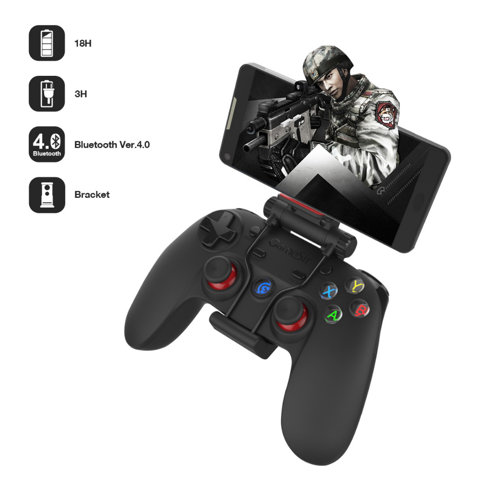 GameSir G3s Advanced Edition Wireless Bluetooth Gamepad Controller with Bracket Holder for Android and Apple IOS Smartphone  PS3<br><br>Aliexpress