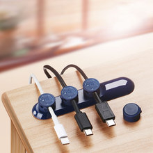 Desktop USB Cable Wired Organizer Magnetic Charger Cable Cord Holder For iPhone iPad Charging Data Line