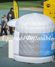 custom colorful inflatable booth with logo for advertising
