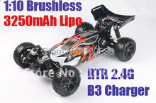 New - 1/10 scale 4WD Brushless RC Buggy with Lipo Battery 3250mAh and Charger