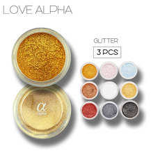 3Pcs/lot Alpha 13 Colors Eye Shadow Palette Glitter Pigment Eyeshadow Full Cheap Professional Make Up Kit Cosmetics Brand(China)