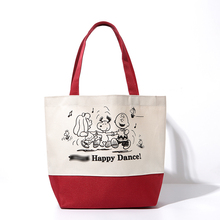 Kawaii Classic Snoopie Cartoon Dogs Canvas Portable Bag Women Shopping Bag Tote 34*28*12CM Kids Christmas Gifts Brinquedos