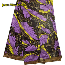 purple color Guaranteed Veritable African Java wax fabric 2017  gift cotton wax fabric 6yards LS1101