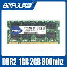 Binful 2GB PC2-6400S DDR2 800Mhz 200pin DDR2 2gb Laptop Memory 2G pc2 6400 800 MHZ Notebook Module SODIMM RAM Free Shipping