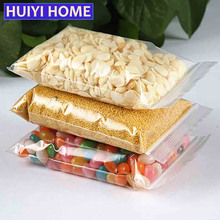 Huiyi Home 100pcs/lot Self-seal Plastic Storage Bag 4 Sizes Thicker Transparent Zip Lock Bag Home Organizers Containers EGF351(China)