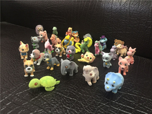 Official 30pcs/set Flocking Aminal Doll Dog Cat Monster Action Figure Toys Kids House Doll for collection(China)