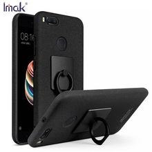 IMAK Kickstand Ring Holder Matte Hard PC Phone Back Case for Mi A1 with Soft Screen Protector for Xiaomi Mi A1(China)