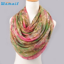 Womail Good Deal  New Hot Spring Summer Lady Women Beautiful Mixed color Pattern voile Shawl Wrap Scarf Neck Scarves Gift 1PC