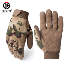 Multicam Tactical Gloves Antiskid Army Military Bicycle Airsoft Motocycel Shooting Paintball Work Gear Camo Full Finger Gloves(China)