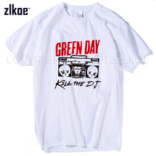 New Arrival GREEN DAY Kill Printed T Shirt Men Fashion 2017 Big Size Short Sleeve O Neck T-shirt Casual Tops Tee Clothing