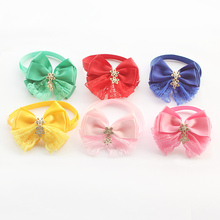 60Pcs Armi store Handmade Lace Spell Cotton Ribbon Bows Ties For Dogs Dog Tie 6031052 Pet Collar Accessories Supplies