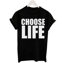 Aliexpress eBay fashion choose Life black short sleeved T-shirt printing letters ladies jacket