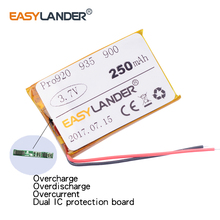 Easylander Replacement AHB5-2229PS 3.7V 250mAh Rechargeable li Polymer Battery For JA-BRA Pro Pro920 935 900 Bluetooth headset