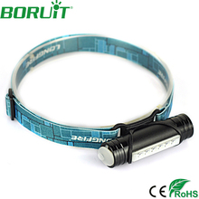 Boruit 400LM 6 LED Mini Headlight 3-Mode USB Rechargeable Headlamp Bike Bicycle Head Torch for Hunting Lamp by Built-in Battery(China)