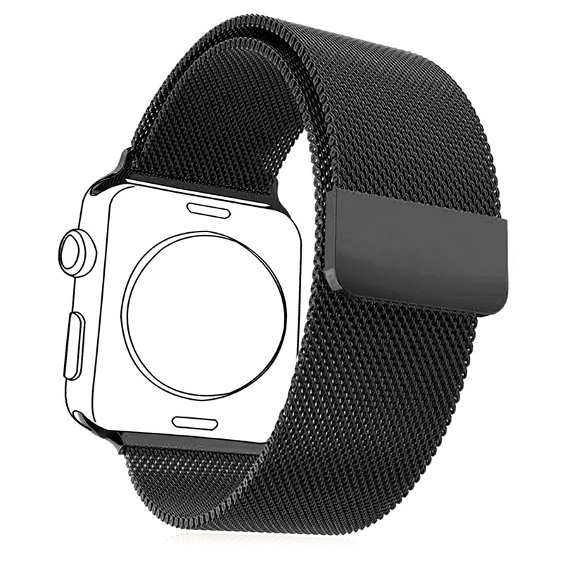 Milanese Loop Black Gun Plated Protective Case&amp;Watchbands For Apple Watch Series 2&amp;1 Men/Women 2 Pcs Watch Accessories APB1757H<br><br>Aliexpress