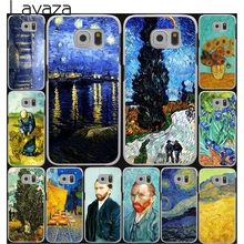 Lavaza Vincent Willem van Gogh Tardis Hard Style White for Samsung Galaxy S3 S4 S5 & Mini S6 S7 S8 Edge Plus Case Cover(China)
