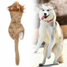 2017 Dog Toys Pet Puppy Chew Squeaker Squeaky Plush Sound Toys Plush Squeaky Animal Chew Attract Dog Cat Pet Squeak Toy(China)
