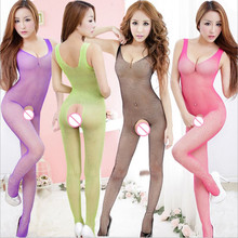 Women netting Sexy Lingerie Sexy Bodystockings transparent Underwear Open Crotch Teddies/Bodysuits Sex toys Whole body socks