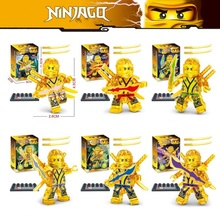HOT Compatible with LegoINGlys NinjagoINGlys Sets NINJA Heroes Kai Jay Cole Zane Nya Lloyd With Weapons Action Toy Figure Blocks