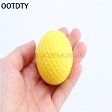 Practice Golf Indoor Outdoor Sports Training Elastic PU Foam Balls Yellow  #H030#