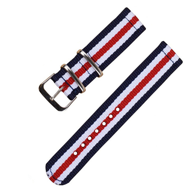 NATO Strap 18mm 20mm 22mm 24mm military nylon strap two Style nylon watch band Navy White Red stripe Watchband 20 mm<br><br>Aliexpress