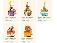 3sets Creative DIY Christmas gift wooden music box gift wholesale music box home furnishing articles new year children gifts(China)