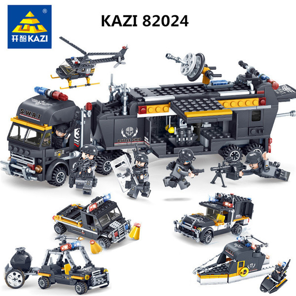 KAZI-SWAT-Team-Command-Vehicle-Car-3D-DIY-Model-Building-Blocks-Bricks-Compatible-With-Famous-brands.jpg_640x640