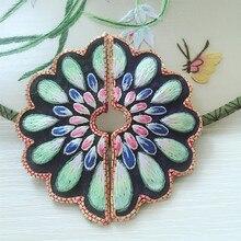 Высокое количество handsewing сучжоу вышивка bordados parches para la ropa для одежды мешок ожерелье diy(China)