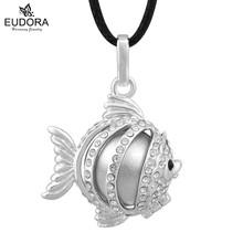 Colar Feminino Fish Cage Czech Chaton Decorate Angel Caller Pendant Jewelry Mum To Be Gift Dream Bell Mexican Ball Harmony Bola