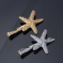 M MISM 2017 Women Cute Hair Clips Star Princess Barrettes Shiny Glitter Pentacle Hairpins Gifts For Girl's Hair Speldjes(China)