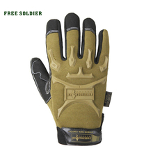 outdoor sport hiking camping climbing riding shooting wear-resisting motor tactical glove racing gloves full finger FREE SOLDIER(China)