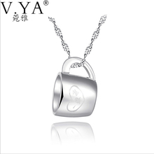 Cup Mean Love forever 925 Sterling Silver Pendant for Women Jewelry 100% Pure S925 Silver Cup Pendants ,No Chain CP139
