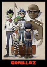 Gorillaz - English Virtual Band Damon Albarn Jamie Hewlett  Poster
